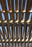 Wooden roof. Exterior wood made roof structure Stock Image
