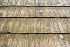Wooden roof. Old ruined wooden roof detail Stock Image