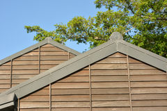 Wooden roof of building Royalty Free Stock Image