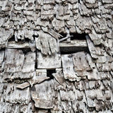 Wooden Roof of Burnt Out Building royalty free stock photos