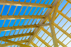 Wooden roof construction Royalty Free Stock Photos