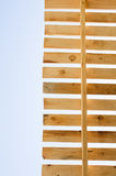 Wooden roof construction. Building in progress. House constructi Royalty Free Stock Photos