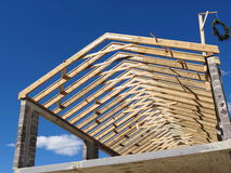 Wooden roof construction Royalty Free Stock Images