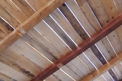 Wooden roof construction Stock Images