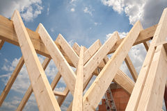 House roof under construction Stock Image