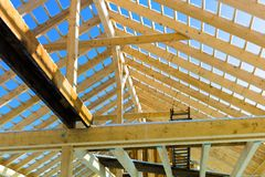 Wooden roof construction Stock Photography