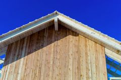 Wooden roof construction Royalty Free Stock Photo
