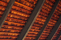 Wooden roof detail blur background. Wooden roof detail structure blur background Stock Image