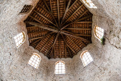 Wooden Roof of Euphrasian Church Baptistery Royalty Free Stock Photos