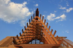 Wooden roof frame Stock Images