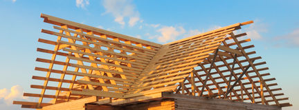 Wooden roof frame Stock Image