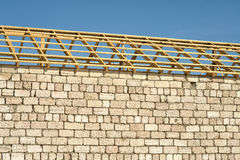 Wooden roof frame. Stock Images
