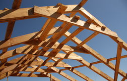 Wooden roof frame Stock Photos