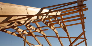 Wooden roof frame Stock Photography