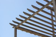 Wooden roof frame royalty free stock image