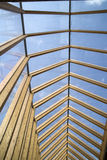 Wooden roof and glass Royalty Free Stock Image