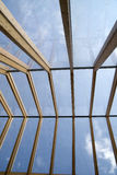 Wooden roof and glass Stock Photography