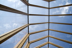 Wooden roof and glass Royalty Free Stock Photo
