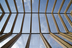 Wooden roof and glass Stock Images
