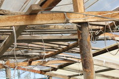 Wooden roof of greenhouse 19643 Royalty Free Stock Images