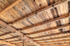 Wooden roof inside Royalty Free Stock Photos
