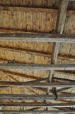 Wooden roof interior detail Royalty Free Stock Image