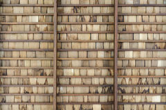 Wooden roof. The new slab wooden roof Royalty Free Stock Photography