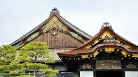 Wooden roof of Nijo Castle Stock Image
