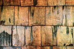 Wooden roof old brown color Royalty Free Stock Photos