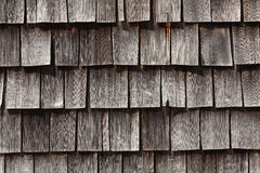 Wooden roof shingle Stock Photo