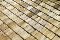 Wooden roof shingles Stock Images