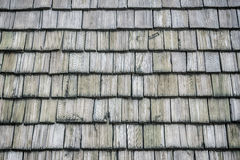 The Wooden roof shingles background Royalty Free Stock Photography