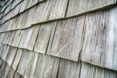The Wooden roof shingles background Stock Photography