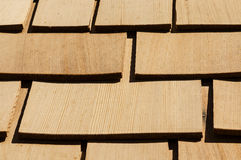 Wooden Roof Shingles Royalty Free Stock Photography