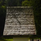 Wooden Roof of Small Church / Shrine in Austria. N Tyrol stock photos