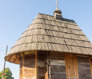 Wooden roof of St. Sava Church in Drvengrad, Serbia royalty free stock image