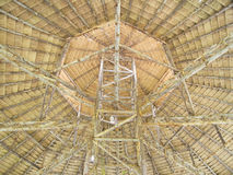 Wooden roof structure, dry grass roof, Thailand ar Royalty Free Stock Photography