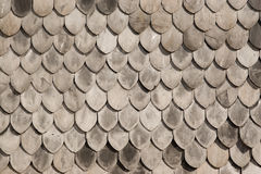 Wooden roof texture. Detail shot of a wooden shingled roof in Oporto, Portugal Stock Photos