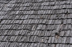 Wooden roof texture. Brown wooden tile background Stock Images