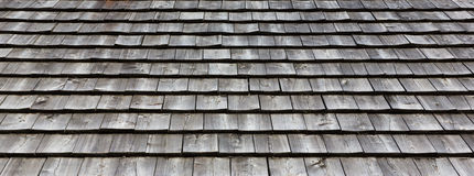 Wooden roof tile texture Royalty Free Stock Images