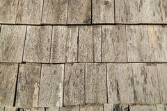 Wooden roof tiles Royalty Free Stock Image