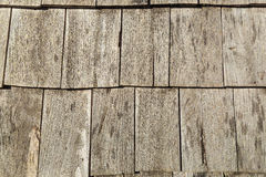 Wooden roof tiles Stock Photo