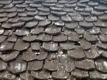 Wooden Roof Tiles. In lanna Royalty Free Stock Photos
