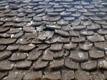 Wooden Roof Tiles. In lanna Royalty Free Stock Photo