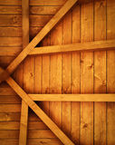 Wooden roof truss detail Stock Photo