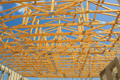 Wooden Roof tursses Royalty Free Stock Photography