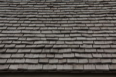 Wooden roofing material. texture. thatch Stock Photo