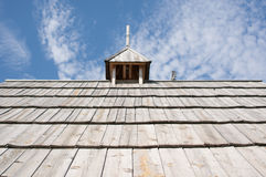 Wooden rooftop Stock Photo