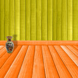 Wooden room. Wooden room with a vase on a floor Royalty Free Stock Photos