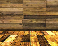 Wooden room Royalty Free Stock Photos